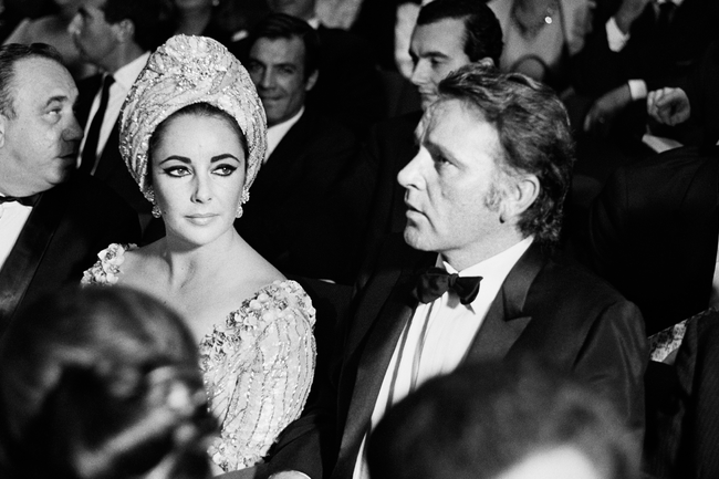 Elizabeth Taylor and Richard Burton at Teatro Sistina. Rome, October 1966